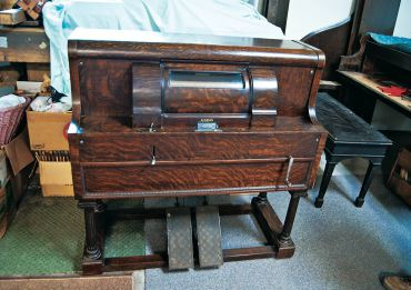 A rare 1915 push-up player piano