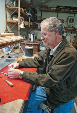Barnhard at work in his shop