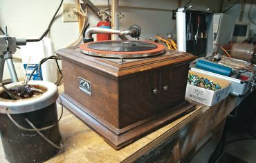 Another of Barnhard's projects, a Victrola phonograph
