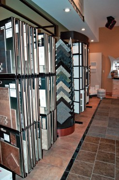 Tile floor samples at Creative Countertops