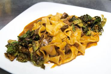 Braised beef pappardelle con sugo
