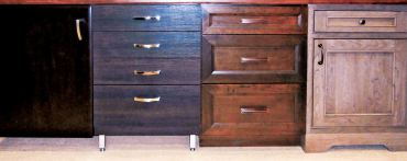 Four base cabinets