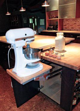 Mixer lift. (Photo courtesy A Kitchen That Works)