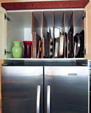 Tray dividers. (Photo courtesy A Kitchen That Works)