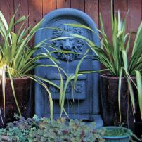 One of two fountains that create a private, backyard Eden. (Photo courtesy Colleen Miko)