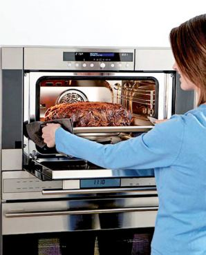 Wolf Steam Oven: Don't let the size fool you — this mighty might can produce a full-course meal in a fraction of the time of a standard oven with more nutrient value. Model #CSO24