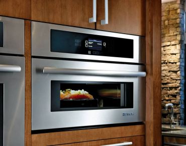 Jenn Air Convection Microwave with drop-down door — for cooks who want speed and convenience in one Model #JMC2430W