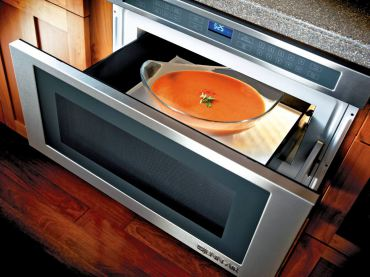 Jenn Air 24-inch under counter microwave oven with drawer design Model #JMD2124WS