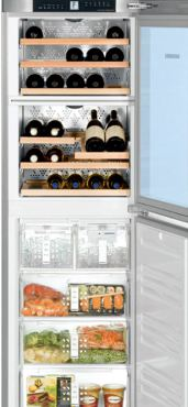Liebherr WF1061 Built-in wine storage/freezer combination with ice maker 34 bottle capacity in stainless steel