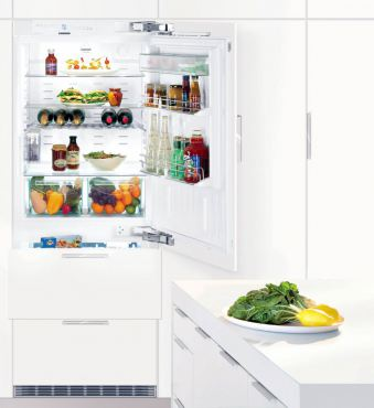 Liebherr model No. WF1061 offers great storage with a 34-wine-bottle upper compartment and a 4.5-cubic-foot freezer below in just 24 inches of space.