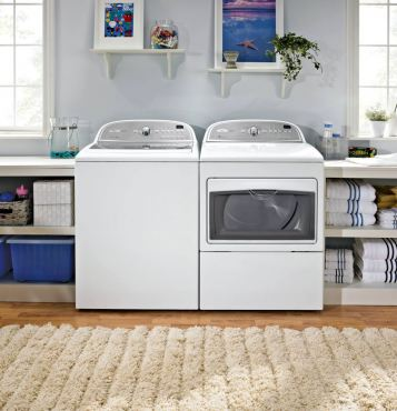 "Whirlpool models 5700xW/5700AC top-loading laundry machines are a high-efficiency team. Top loaders are favored by crafters for their ability to ""soak"" cloth for dying, felting and other craft activities."