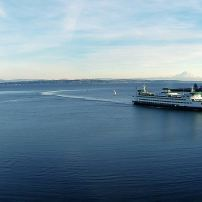 Puget Sound Ferry at Eagle Harbor, Bainbridge Island