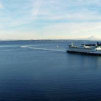 Puget Sound Ferry at Eagle Harbor, Bainbridge Island