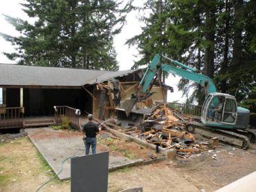 The original home demolition