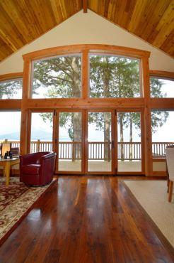 Doors to deck remain open in the summer.