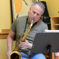 Bill Cole on saxophone