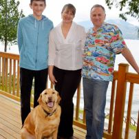 Matt, Kathy and Bill Cole with Max