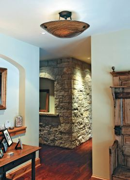 Neptune semi-flush ceiling mount. (Photo courtesy Stone Lighting Design)