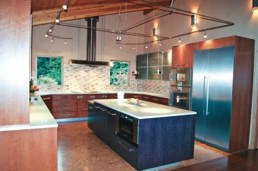 Track lighting. (Photo couresty A Kitchen That Works, LLC)
