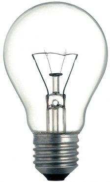 Incandescent light bulb.