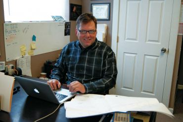 Wayne Keffer in his office