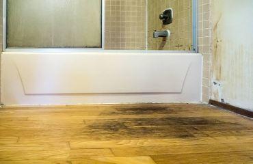 Water damage to hardwood floors