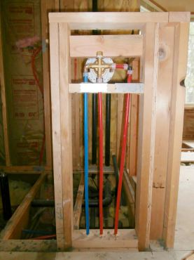 Rough plumbing of shower valve