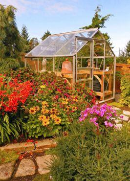 Greenhouse in the Hegnes' garden