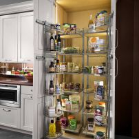 Hafele LED illuminated pantry