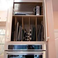 Overhead tray storage