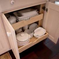 Undercounter tray storage