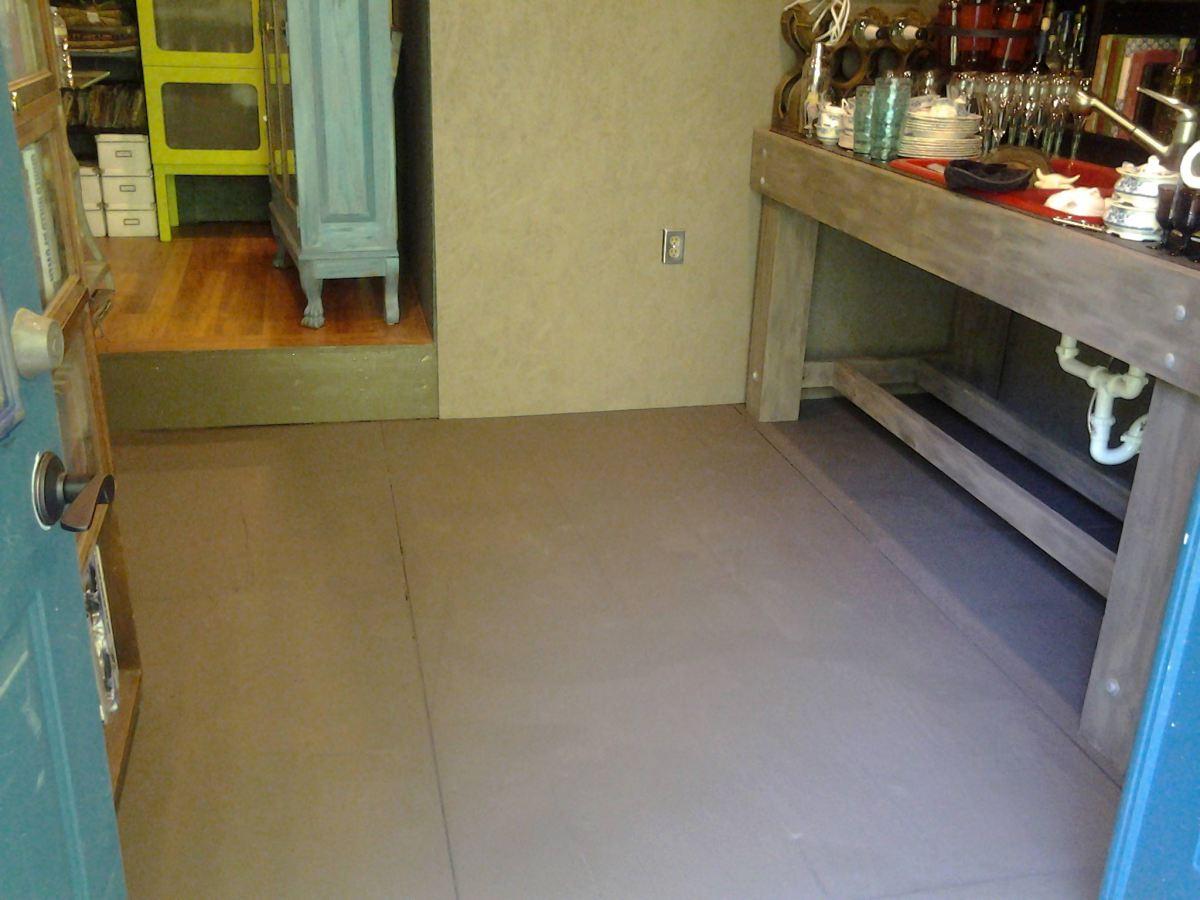 how to paint concrete floors faux finish
