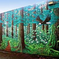 The Forest Mural in Bremerton, painted by Dennis McDaniel