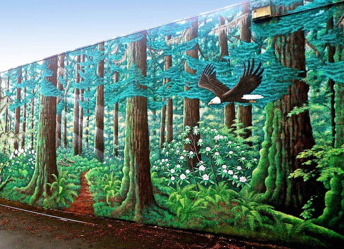 Wshg net blog bremerton 39 s unnoticed wonder 150 foot for Best paint for a wall mural