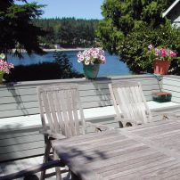 Untreated teak furniture, left outdoors, turned to a silvery-gray color.