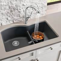 Blanco Diamond double bowl sink in Cafe Brown Silgranitea