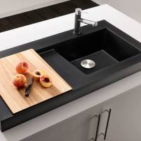 Blanco Modex integral drain board sink in Silgranite Cinder