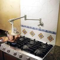 Moen traditional-style pot filler in satin nickel