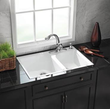 Kohler cast iron tile-in kitchen sink