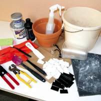 Mosaic Flower Pot: Materials