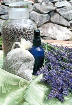 Lavender jar and sachet