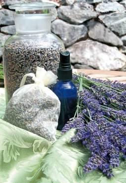 Lavender jar and sachet