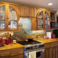 Jim Valley: Kitchen mural by Janice Wagner