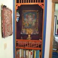 Jim Valley: Old screen door painted and made into a bookshelf