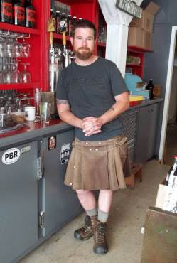 Slippery Pig Brewery - Owner and head brewmaster Dave Lambert