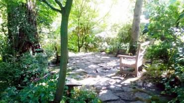 A secluded garden courtyard