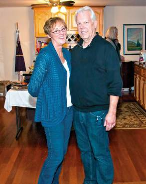 Key Peninsula Words and Music - Pam and Jerry Libstaff during a recent Words and Music event at their Vaughn home.