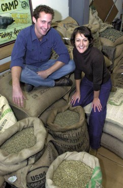 "Grounds for Change roasting company owners Kelsey and Stacy Marshall believe in the ""triple bottom line"" — environmental, social and economic."