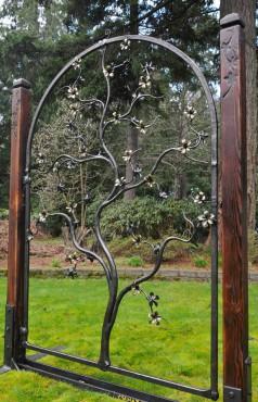 "Beautiful ""forever blossom"" garden gate."