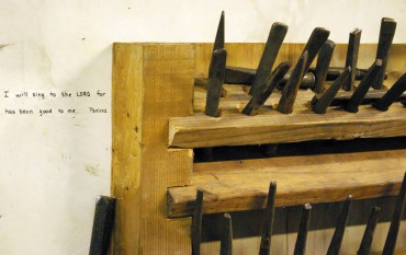 Tools and inspiration in the Burnett Forge.
